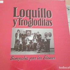 Discos de vinilo: LOQUILLO Y LOS TROGLODITAS SIMPATIA POR LOS STONES MAXI 1991. Lote 169738920