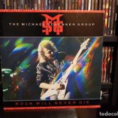 Discos de vinilo: THE MICHAEL SCHENKER GROUP - ROCK WILL NEVER DIE. Lote 169741072