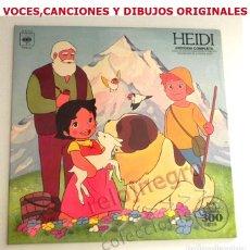 Discos de vinilo: HEIDI DISCO VINILO LP HISTORIA COMPLETA DIBUJOS DE LA SERIE D TELEVISIÓN AÑOS 70 MÚSICA Y NARRACIÓN. Lote 169751344