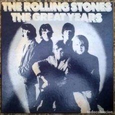 Discos de vinilo: ROLLING STONES. THE GREAT YEARS. DECCA-READER'S DIGEST RDS 9962, UK 1982 BOX 4 LP MUY BUEN ESTADO. Lote 169751760