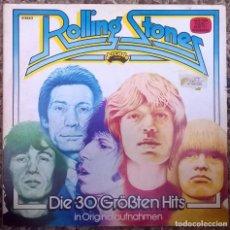 Discos de vinilo: THE ROLLING STONES. DIE 30 GRÖSSTEN HITS. ARCADE, GERMANY 1977 (2 LP + DOBLE CARPETA ADE G 27). Lote 169753416