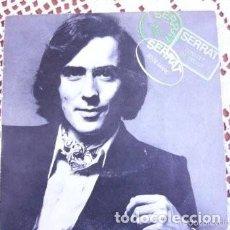 Discos de vinilo: JOAN MANUEL SERRAT 20 DE MARÇ EP 1970. Lote 169754028