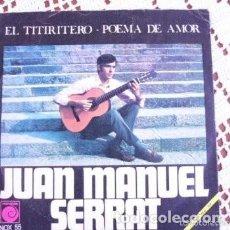 Discos de vinilo: JUAN MANUEL SERRAT EL TITIRITERO EP 1968. Lote 169754548