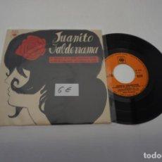 Discos de vinilo: VINILO SINGLE - JUANITO VALDERRAMA LA TORTOLICA EN LA MANO / CBS EP 6216. Lote 169759716
