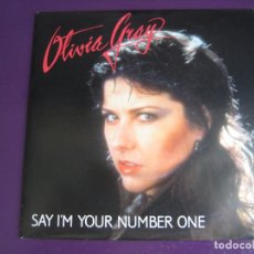 Discos de vinilo: OLIVIA GRAY SG JINGLE 1990 PROMO SAY I'M YOUR NUMBER ONE - ELECTRONICA DISCO 90'S . Lote 169767552