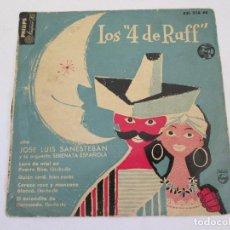Discos de vinilo: LOS 4 DE RUFF CON JOSE LUIS SANESTEBA Y SU ORQUESTA SERENATA ESPAÑOLA - 1958 PHILIPS. Lote 169775912