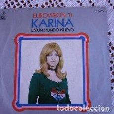 Discos de vinilo: KARINA EN UN NUEVO MUNDO EUROVISIÓN 71 EP 1971. Lote 169787740
