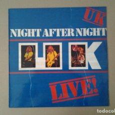 Discos de vinilo: UK -NIGHT AFTER NIGHT - LP POLYDOR 1979 ED. ESPAÑOLA 2302096 MUY BUENAS CONDICIONES.. Lote 169788608