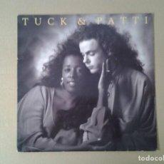 Discos de vinilo: TUCK & PATTI -LOVE WARRIORS- LP WINDHAM GILL 1989 ED. AMERICANA WH-0116 MUY BUENAS CONDICIONES.. Lote 169790588