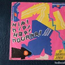 Discos de vinilo: SMURFER JUNIOR ?– HIP! HIP! HOP! HOURRA! SELLO: PANTASHOP ?– 4484 FORMATO: VINYL, 7 , 45 RPM, SINGL. Lote 169805060