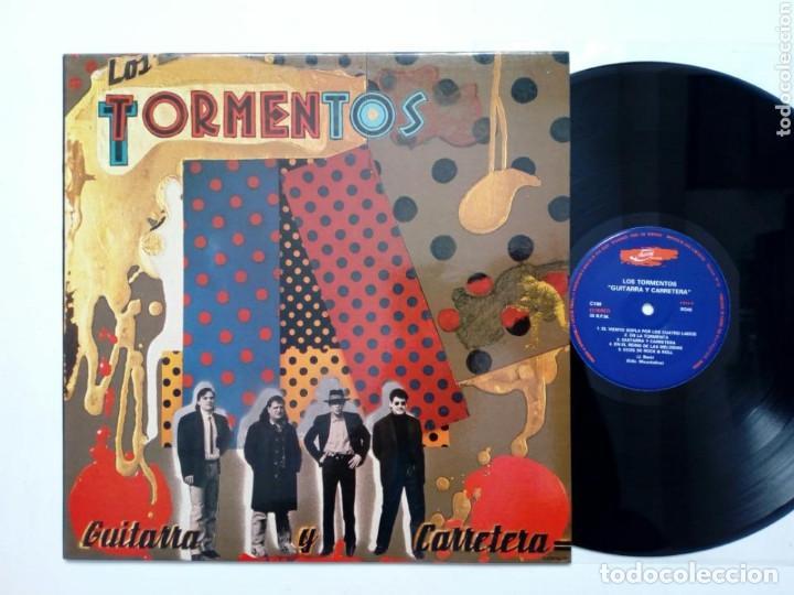 LP: LOS TORMENTOS - GUITARRA Y CARRETERA (JUSTINE RECORDS, 1989) - ROCK & ROLL POST-PRIMAVERA NEGRA (Música - Discos - LP Vinilo - Grupos Españoles de los 70 y 80)