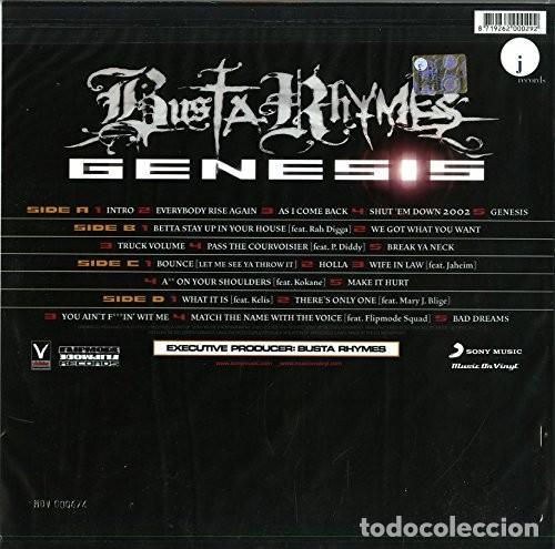 Discos de vinilo: BUSTA RHIMES * GENESIS * 2LP 180g audiophile vinyl * insert * Music on Vinyl * nuevo - Foto 10 - 169824128
