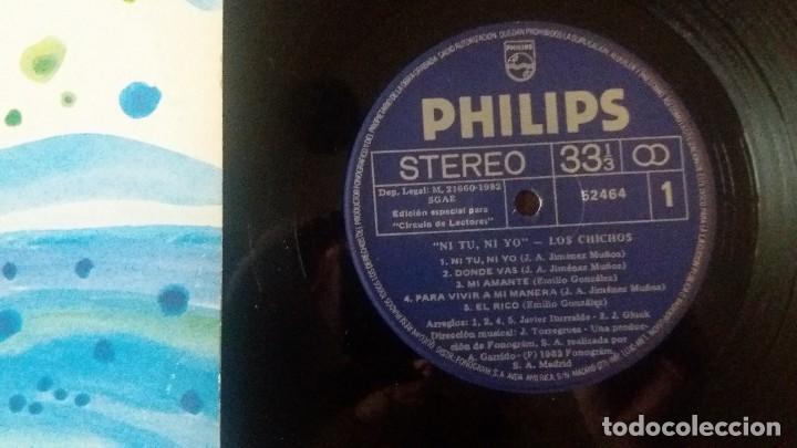 Discos de vinilo: LOS CHICHOS - NI TU NI YO ...LP DE PHILIPS EDICION ORIGINAL DE 1982 - MUY BUEN ESTADO. - Foto 3 - 169842781