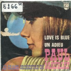 Discos de vinilo: PAUL MAURIAT / LOVE IS BLUE / UN ADIEU (SINGLE 1968). Lote 169850956