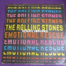 Discos de vinilo: THE ROLLING STONES SG EMI 1980 EMOTIONAL RESCUE/ DOWN IN THE HOLE SIN APENAS USO. Lote 169853140