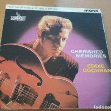 Discos de vinilo: EDDIE COCHRAN CHERISHED MEMORIES LP 1978 REEDITION MONO. Lote 169871384