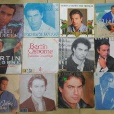 Discos de vinilo: LOTE DE 12 SINGLES DE BERTÍN OSBORNE. Lote 218425981