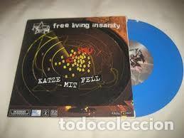 Discos de vinilo: FREE LIVING INSANITY / MARSHCRANNIES - KATZE MIT FELL - VINILO AZUL - Foto 3 - 169883284
