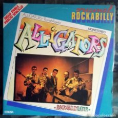 Discos de vinilo: LES ALLIGATORS / CHRIS EVANS – ORIGINAL ROCKABILLY 2LP SPAIN ROCKABILLY 1981 PORTADA DOBLE. Lote 169900556