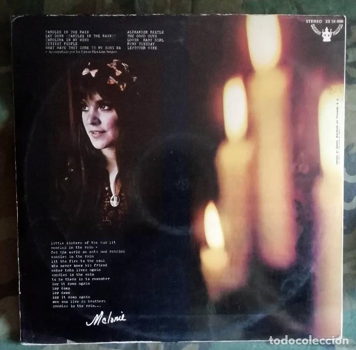 Discos de vinilo: Melanie – Candles In The Rain LP, Spain 1970 portada doble - Foto 3 - 169901516
