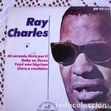 Discos de vinilo: RAY CHARLES MI CORAZÓN LLORA POR TI EP 1964. Lote 169903400