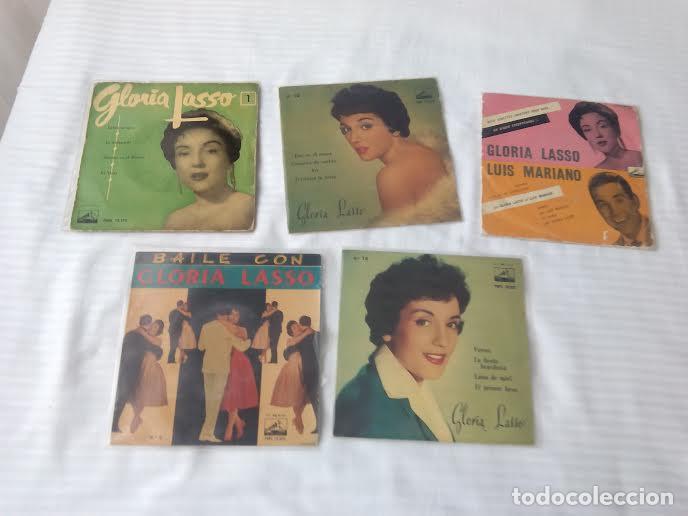 GLORIA LASSO / LOTE 6 EP 45 RPM // EDITADOS ESPAÑA SPAIN SPANISH FRANCE FRANCIA (Música - Discos de Vinilo - EPs - Solistas Españoles de los 50 y 60)