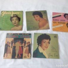 Discos de vinilo: GLORIA LASSO / LOTE 6 EP 45 RPM // EDITADOS ESPAÑA SPAIN SPANISH FRANCE FRANCIA. Lote 169914296