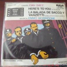 Discos de vinilo: JOAN BAEZ - SACCO E VANZETTI. Lote 169937852