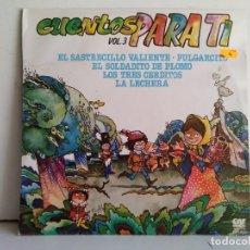 Discos de vinilo: CUENTOS PARA TI . Lote 169956896