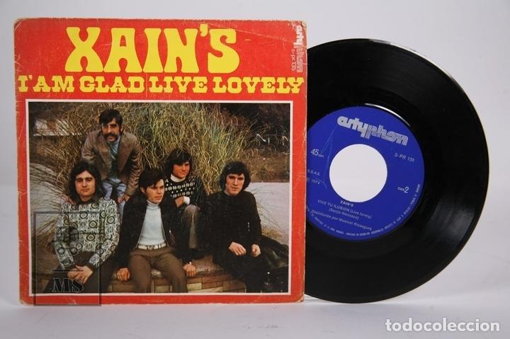 DISCO SINGLE DE VINILO - XAIN'S / I'AM GLAD, LIVE LOVELY - ARTYPHON - AÑO 1974 (Música - Discos - Singles Vinilo - Pop - Rock - Extranjero de los 70)