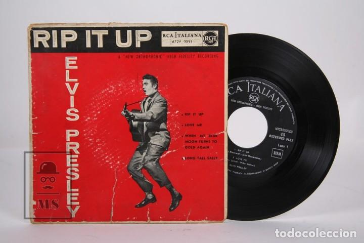 DISCO EP DE VINILO - ELVIS PRESLEY / RIP IT UP , LOVE ME.... - RCA ITALIANA - AÑOS 50 (Música - Discos de Vinilo - EPs - Rock & Roll)