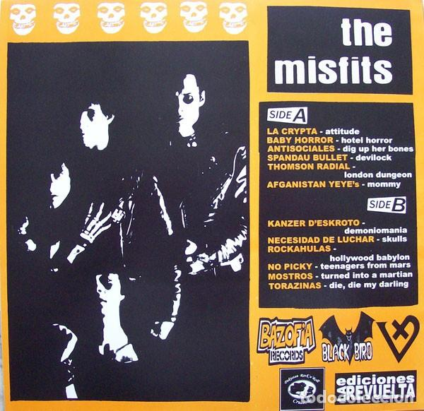 Discos de vinilo: NIGHT OF THE COVERS DEAD - YELLOW VINYL 10 INCH - TRIBUTO A THE MISFITS - Foto 2 - 169994812