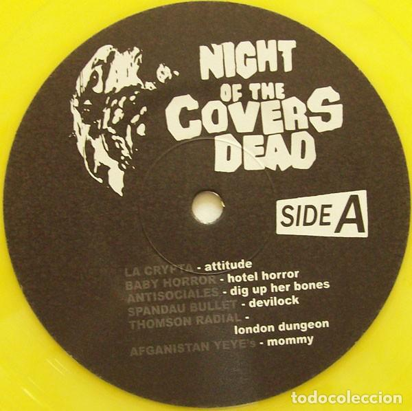 Discos de vinilo: NIGHT OF THE COVERS DEAD - YELLOW VINYL 10 INCH - TRIBUTO A THE MISFITS - Foto 3 - 169994812