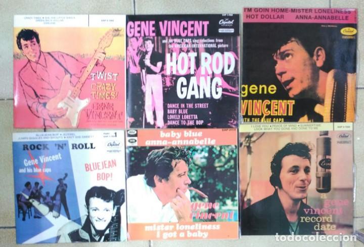 GENE VINCENT, LOTE DE SUS 13 EP´S ESPAÑOLES, FACSIMIL DE 1990 +- (Música - Discos de Vinilo - EPs - Rock & Roll)