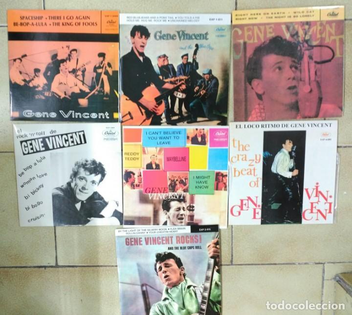 Discos de vinilo: GENE VINCENT, LOTE DE SUS 13 EP´S ESPAÑOLES, FACSIMIL DE 1990 +- - Foto 2 - 170006056