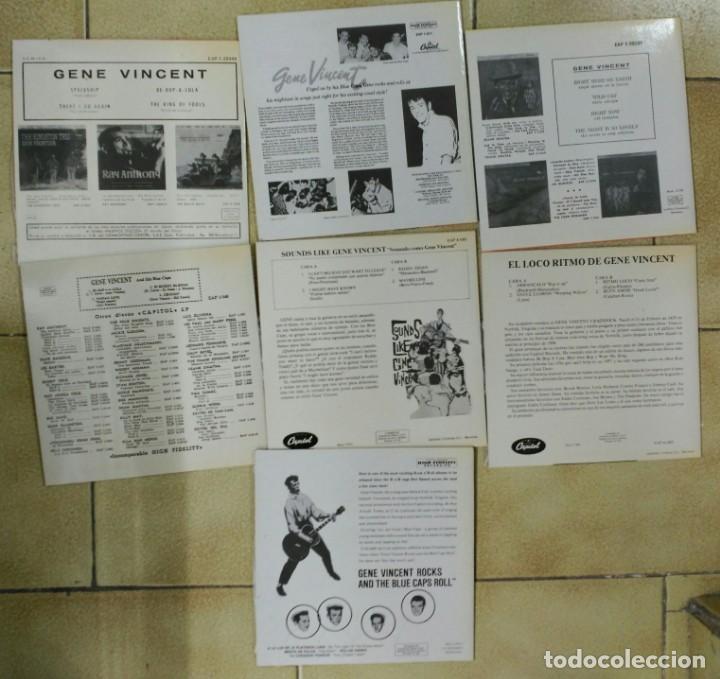 Discos de vinilo: GENE VINCENT, LOTE DE SUS 13 EP´S ESPAÑOLES, FACSIMIL DE 1990 +- - Foto 3 - 170006056