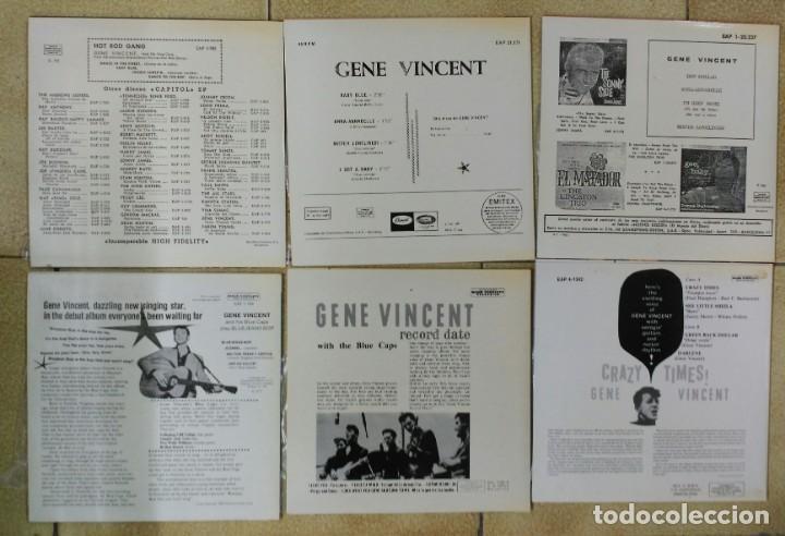 Discos de vinilo: GENE VINCENT, LOTE DE SUS 13 EP´S ESPAÑOLES, FACSIMIL DE 1990 +- - Foto 4 - 170006056