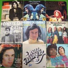 Discos de vinilo: LOTE 9 SINGLES: ALBERT HAMMOND, ANDRES DO BARRO, CAMILO SESTO, DANIEL VELAZQUEZ, LA COMPAÑIA. Lote 170008012
