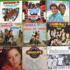 Discos de vinilo: LOTE 9 SINGLES: FORMULA V, FALCONS, DESMADRE 75, ELSA BAEZA, FURIA, DOCTOR POP. Lote 170008316