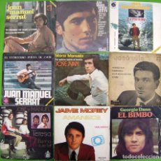 Discos de vinilo: LOTE 9 SINGLES: SERRAT, JOSE Y MANUEL, JOSE JUAN, JAIME MOREY, GEORGIE DAN, JOSE LUIS. Lote 170009276
