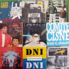 Discos de vinilo: LOTE 9 SINGLES: COMIC, CHAROL 2, CASO PERDIDO,DNI, COMITE CISNE, EDUARDO MARTI, CHAN Y CHEVY. Lote 170009956