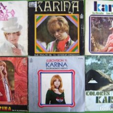 Discos de vinilo: LOTE 6 SINGLES DE KARINA. Lote 170010720