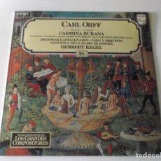 Discos de vinilo: CARL ORFF - CARMINA BURANA - ENCICLOPEDIA SALVAT DE LOS GRANDES COMPOSITORES Nº 94.. Lote 170014056