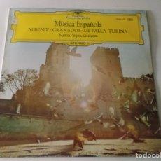 Discos de vinilo: MUSICA ESPAÑOLA. ALBENIZ. GRANADOS. DE FALLA. TURINA. NARCISO YEPES, GUITARRA.. Lote 170014484