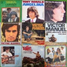 Discos de vinilo: LOTE 9 SINGLES: TONY RONALD, TREBOL, VICTOR MANUEL, VALEN, VOCES AMIGAS. Lote 170015088