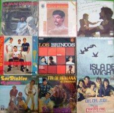 Discos de vinilo: LOTE 9 SINGLES: LOS BRINCOS, LOS DIABLOS, JUAN PARDO, KEROUACS. Lote 170016444