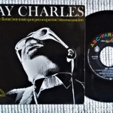 Discos de vinilo: RAY CHARLES - '' CRYING TIME (LA HORA DE LLORAR) + 2 '' EP 7'' SPAIN 1966. Lote 170025000