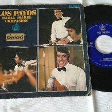 Discos de vinilo: 14-SINGLE LOS PAYOS, HISPAVOX. Lote 170028256
