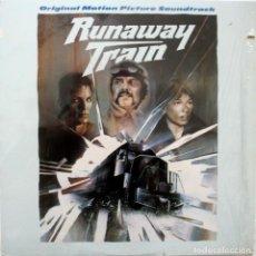 Discos de vinilo: RUNAWAY TRAIN. EL TREN DEL INFIERNO. TREVOR JONES. Lote 170028564