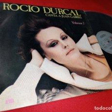 Discos de vinilo: ROCIO DURCAL CANTA A JUAN GABRIEL VOL. 2 LP 1978 ARIOLA SPAIN ESPAÑA. Lote 170038248